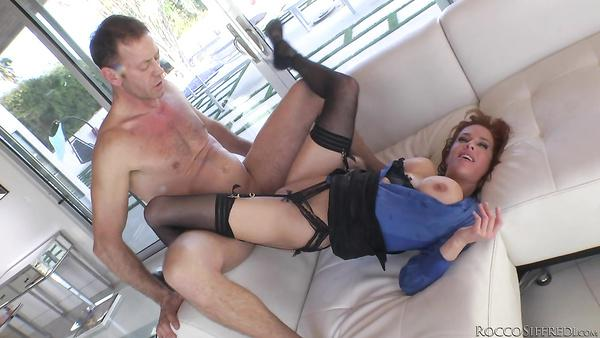 Redheaded milf Veronica Avluv takes a large dick in her butt. Hardcore toppornsite