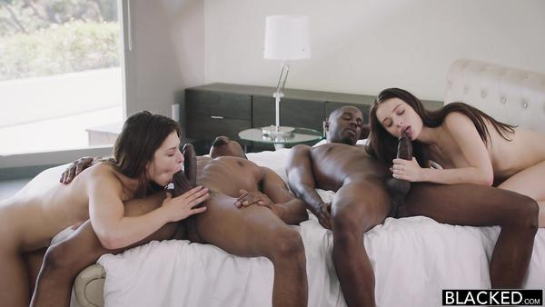 Two young cute twin sisters Lana Rhoades, Leah having sex with hot horny black guys xnxx con